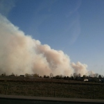 Lower North Fork Fire. March 26, 2012