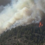Lower North Fork Fire. March 27, 2012