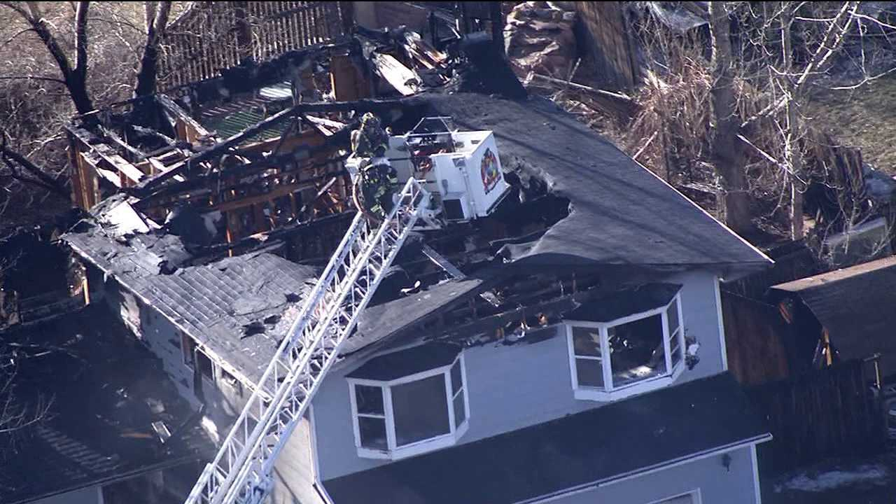 Fire destroys house in 8300 block of S. Carr St. in Littleton, Colo.