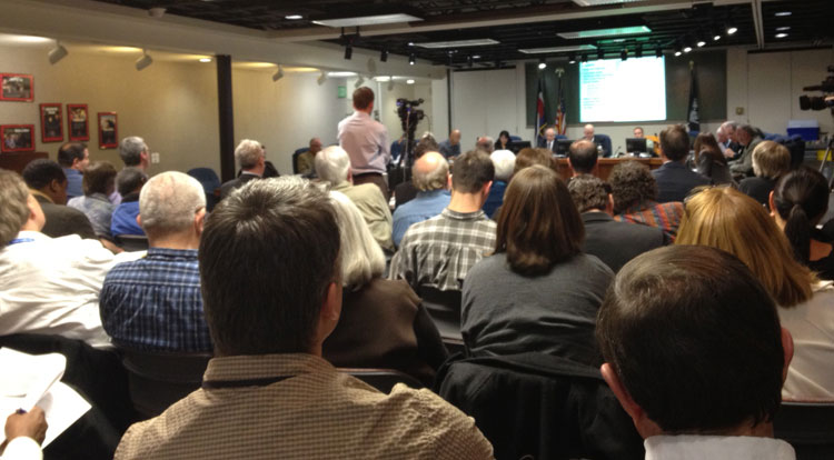 A large crowd attends meeting to hear RTD's plan for Northwest metro Denver rail service