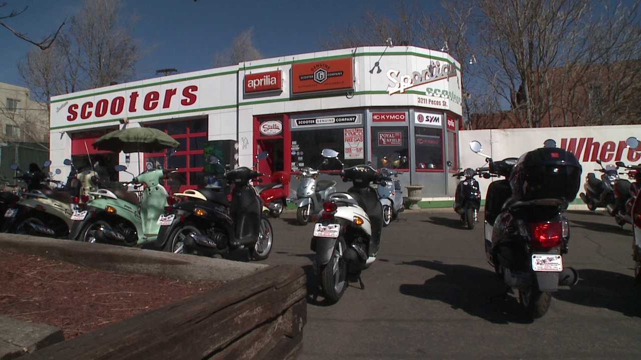 Warm weather helps scooter sales