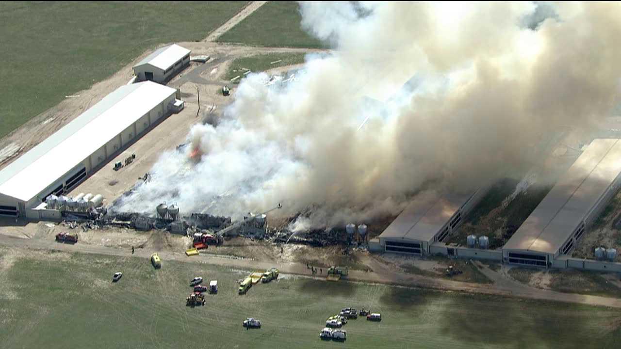 Egg farm fire. Roggen, Colorado. April 30, 2012.