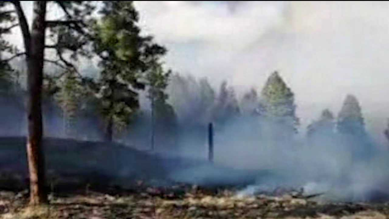 Prescribed burn flares up as Lower North Fork Fire starts