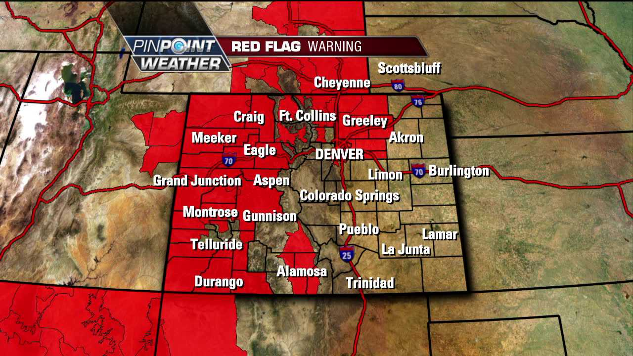 Red Flag Warning for parts of Colorado Friday, April 6