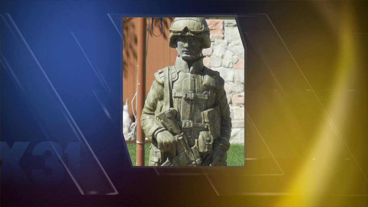 Special soldier statue stolen from woman's front yard