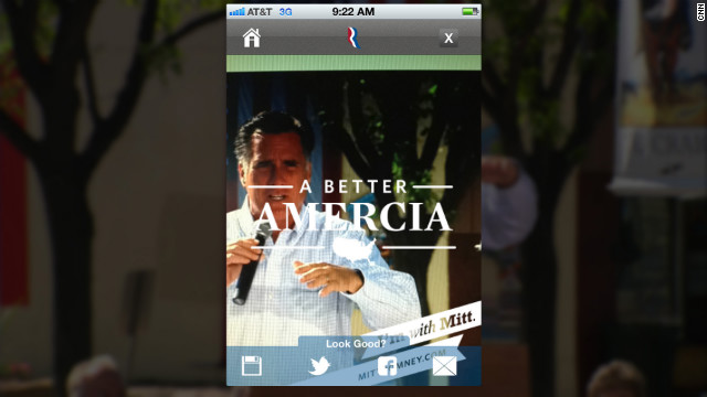 A typo on a new mobile app from the Romney campaign was the butt of jokes on social media on Wednesday, May 30, 2012