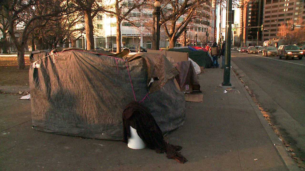 Outdoor camping in downtown Denver