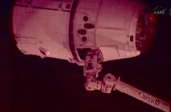 The SpaceX Dragon spacecraft docked with the ISS. May 25, 2012