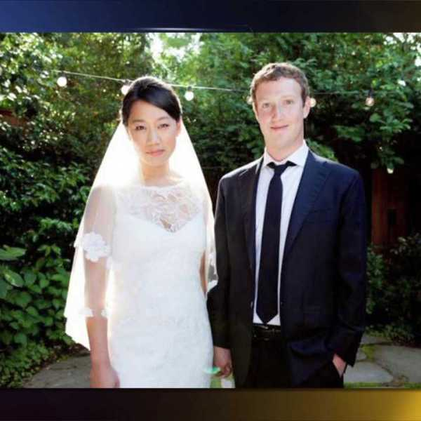 Priscilla Chan and Mark Zuckerberg. The dress was purchased in Denver.
