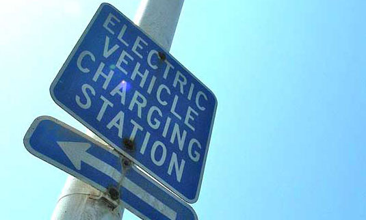 Electric Vehicle Charging Station sign. Photo: inhabitat.com