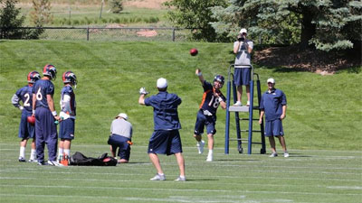 Peyton Manning will lead the Broncos into training camp beginning July 26.