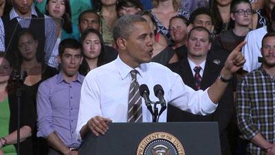 President Barack Obama at CU-Boulder. April 24, 2012.