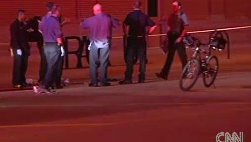 Police investigate shooting in Oklahoma City. Image: CNN/KOCO-TV