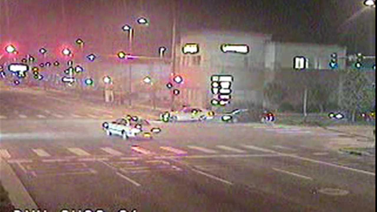 Vehicle runs a red light in Denver