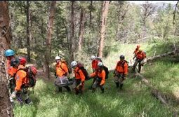 Search and rescue mission. Photo courtesy: Larimer County Search and Rescue