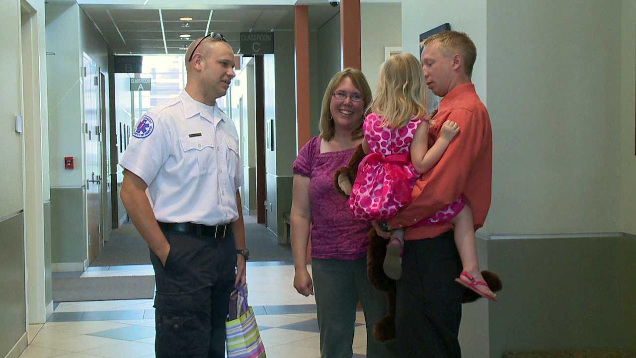 Paramedics honored for saving 2-year-old stroke victim