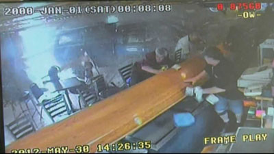 Pick-up truck smashes into bar, MN