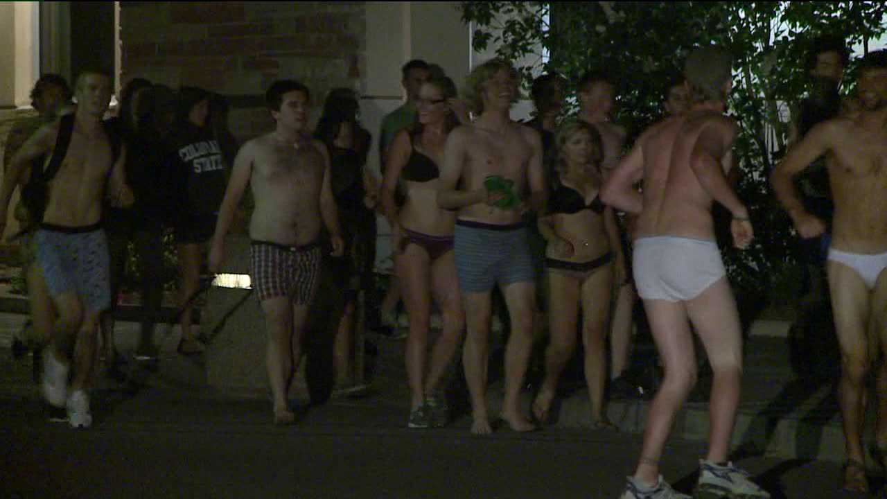 5th Annual Undie Run at CSU. May 4, 2012.