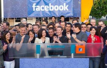 Zuckerberg rings Nasdaq opening bell