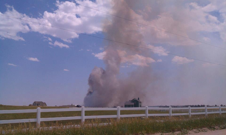 Elbert County fire (viewer imagine: Danielle Lucas)