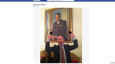 Reagan Middle Finger