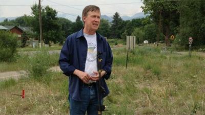 Gov. John Hickenlooper addresses the media. June 12, 2012.