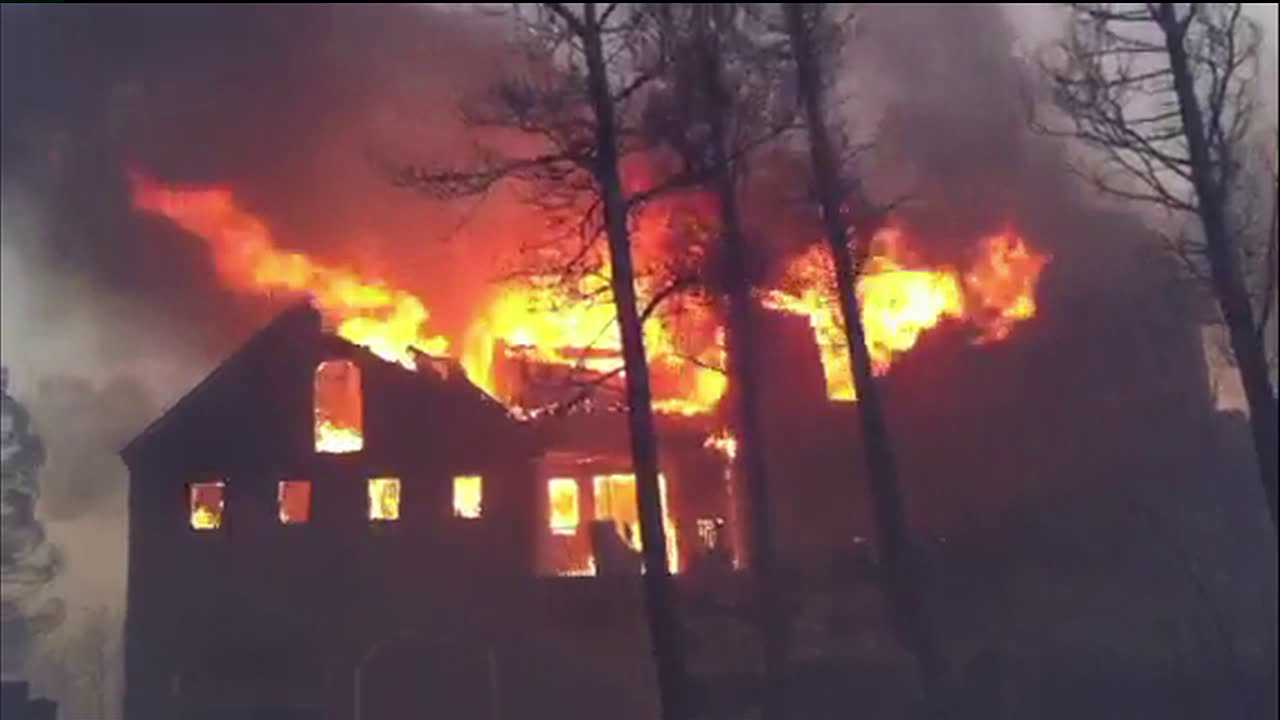 Lower North Fork Fire destroys house. March 2012
