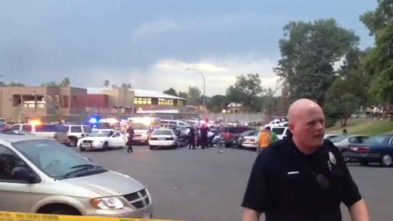 Scene where Denver Police Officer was shot and killed at City Park. June 25, 2012