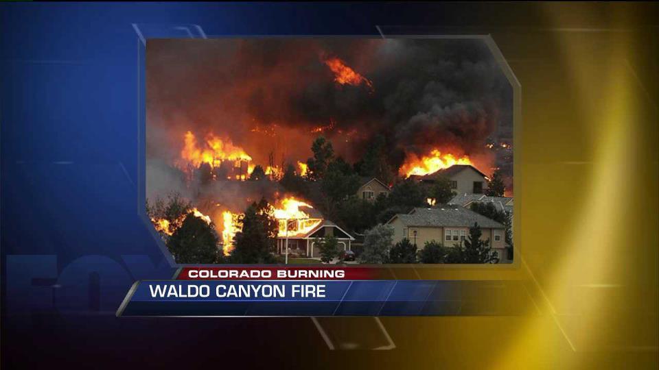 Homes ablaze at Waldo Canyon Fire