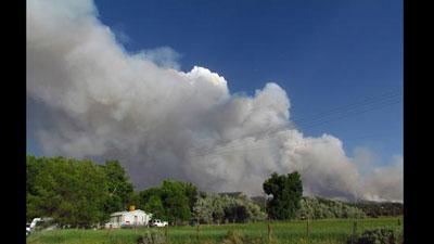 Weber Fire in southwest Colorado. June 23, 2012