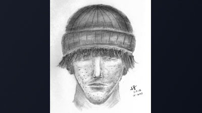 A police sketch of a man who attacked a woman in a Colorado Springs bathroom, July 2, 2012.