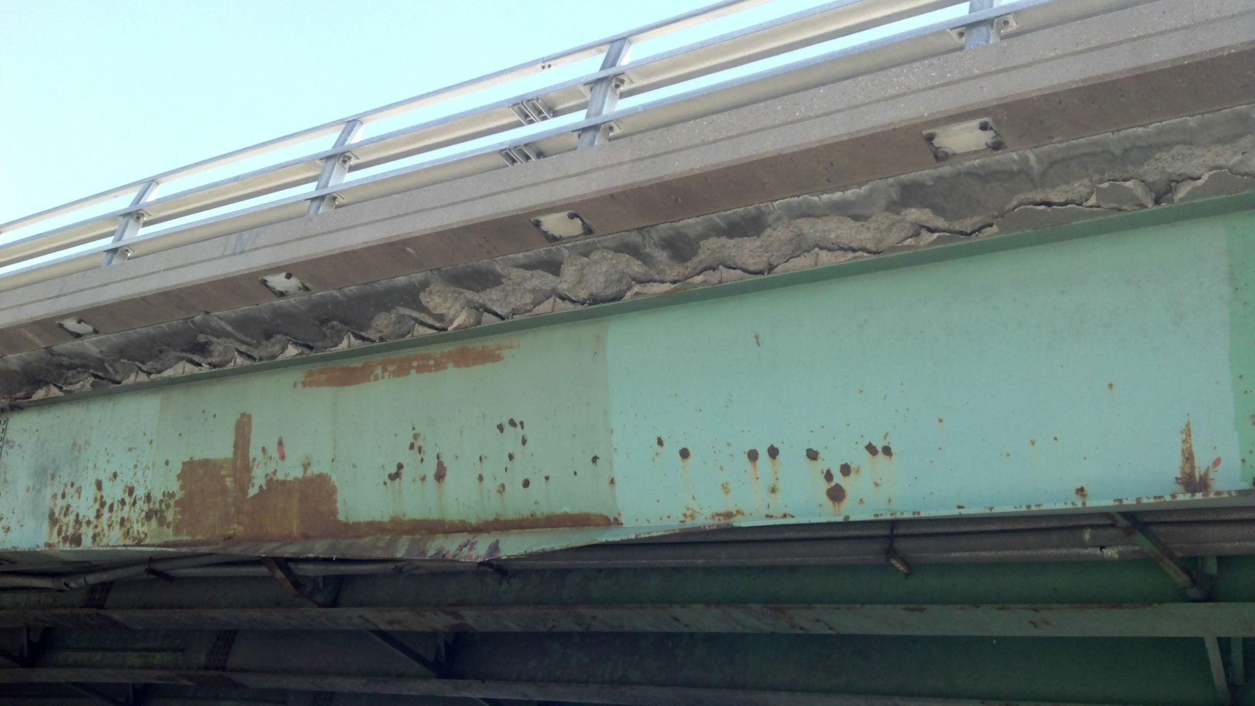 88th Ave. bridge damaged over I-25. Photo: CDOT. July 17, 2012