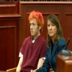 James Holmes during his first court appearance. July 23, 2012