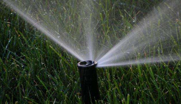 Watering grass. Photo: mikemol, Flickr