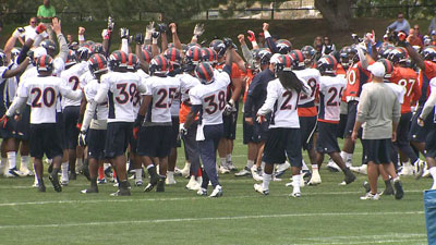 Denver Broncos practice Aug. 20, 2012