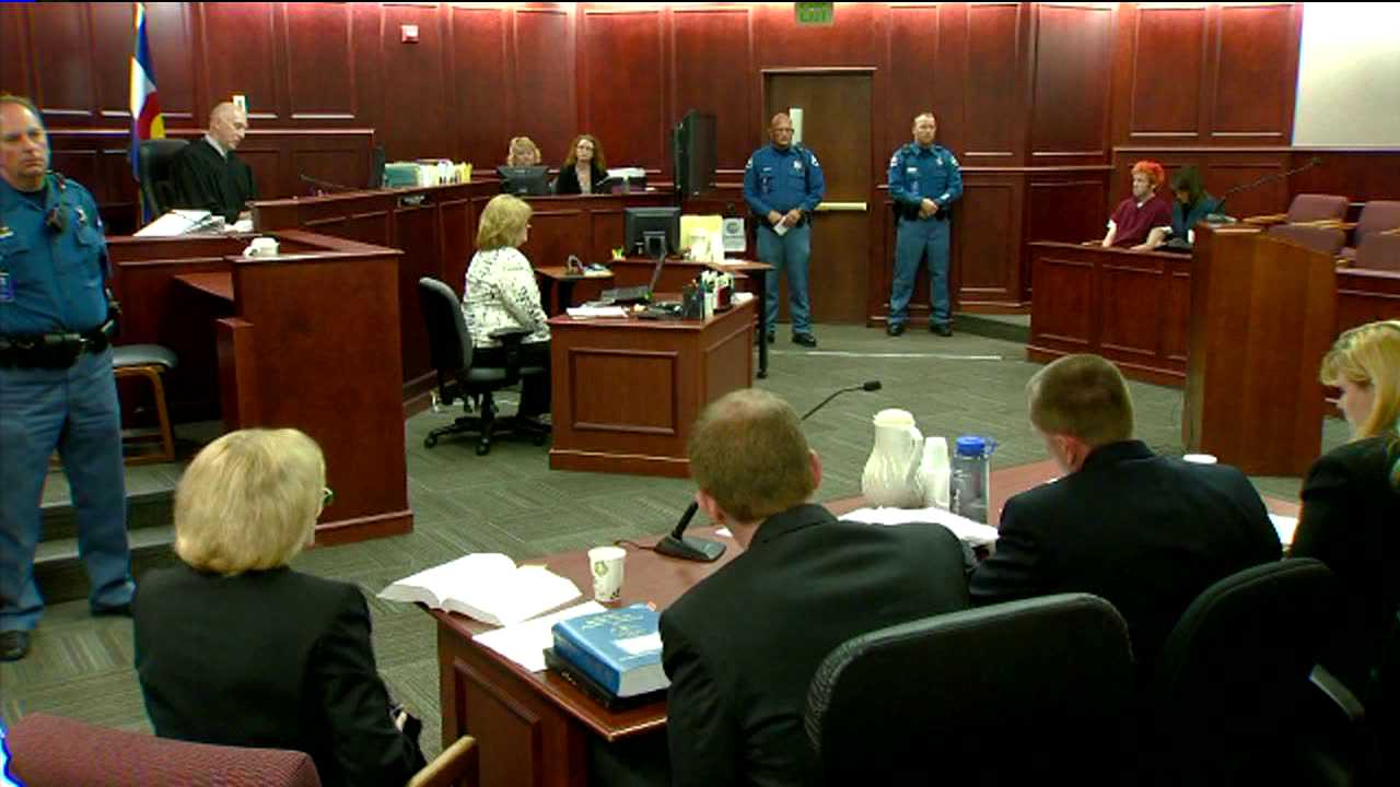 Arapahoe County Court, James Holmes appearance. July 23, 2012