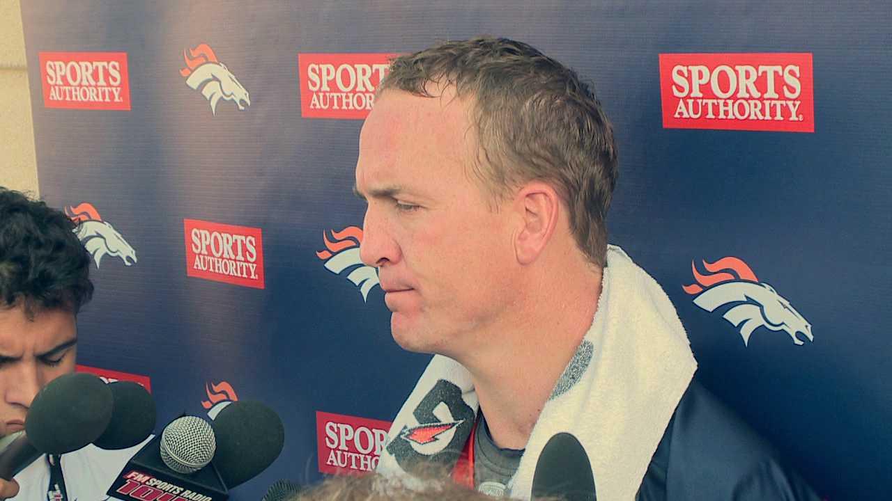 Peyton Manning talks about training camp progress. August 2, 2012