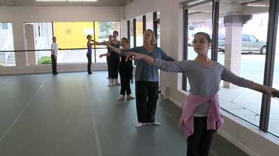 Women add ballet to workout routines. Sept. 25, 2012