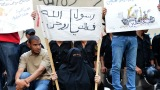 Egyptian demonstrators continue to stake out the U.S. Embassy in Cairo on Wednesday