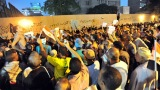 Egyptians shout slogans during a protest in front of the U.S. Embassy in Cairo