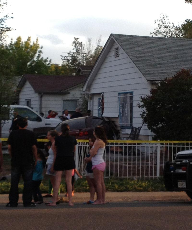 Car crashes into house. Sept. 16, 2012