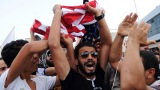 Protesters shout outside the U.S. Embassy in Tunis, Tunisia, on Wednesday, September 12