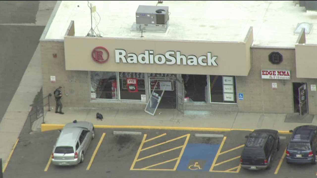 This Radio Shack on East Colfax in Denver is the scene of a hostage negotiation on Sept. 7, 2012.