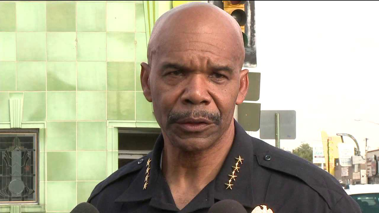 Denver Police Chief Robert White praised officers for bringing Radio Shack hostage crisis to peaceful end. Sep. 7, 2012