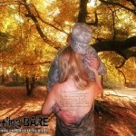 A military wife poses for the Battling Bare campaign to raise awareness about PTSD (Facebook)