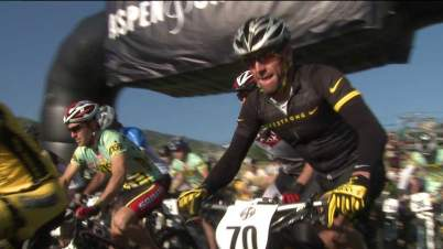Lance Armstrong competes in a mountain bike race in Aspen on Aug. 19, 2012.