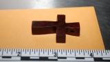 Photo shows scale of cross that could be key piece of evidence in Jessica Ridgeway investigation. Oct. 19, 2012