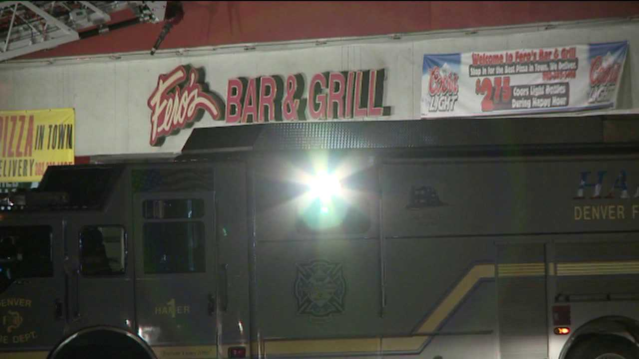 Police investigate a fire that killed five and broke out at Fero's Bar & Grill in Denver possibly due to arson on Oct. 17, 2012.