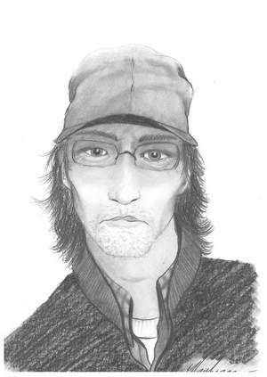 This artist's rendition depicts the suspect police believe robbed a gas station in Fort Collins on Oct. 18, 2012. (Photo: Fort Collins Police Services)