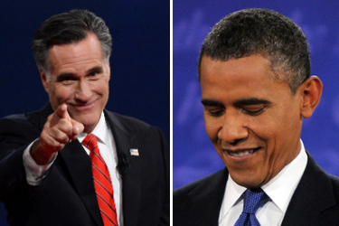 Most pundits agree: An aggressive Mitt Romney seized the momentum over a hesitant Barack Obama at the University of Denver's presidential debate on Oct. 3, 2012. (CNN)
